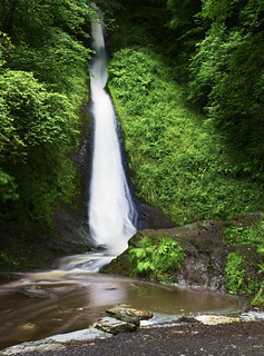 Whitelady Waterfall, Lydford Gorge, near Dartmoor, Devon, UK (Long Exposure)
