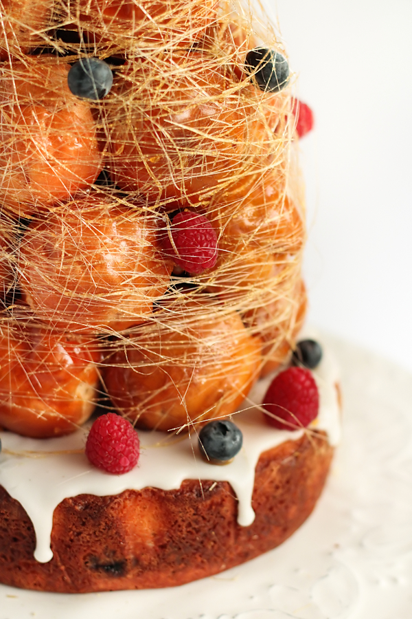 Croquembouche Cake with Lemon & Berries