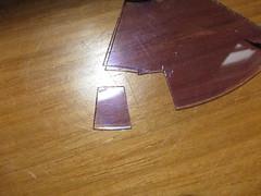 Cut a rough 1 cm square with no fingerprints