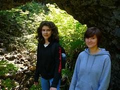 Girls at natural bridges