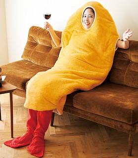 獻給在冬天想當隻炸蝦的你!【穿著式炸蝦睡袋】爆誕~ 着るエビフライ寝袋