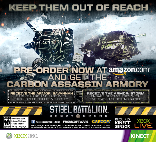 Steel Battalion Heavy Armor Preorder Bonuses Revealed