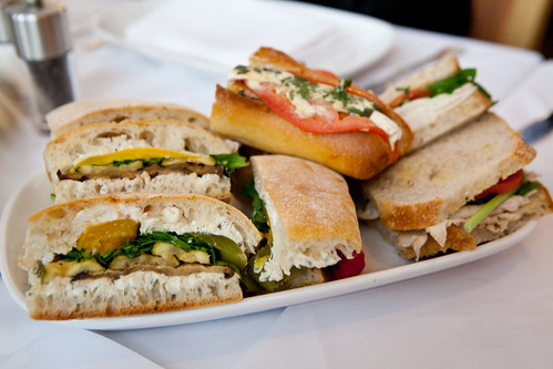 Platter of sandwiches by Eli Zabar
