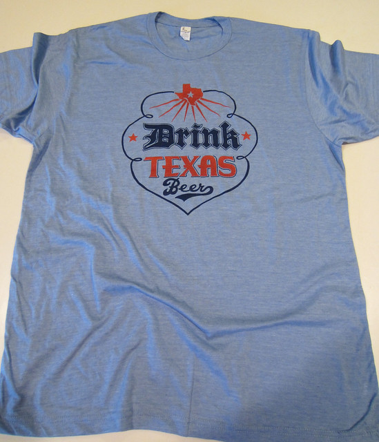 Drink Texas Beer - Light Blue Heather Blend T-Shirt from Tumbleweed Texstyles