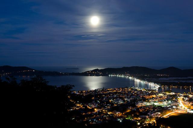 Super Lua na Lagoa da Conceição