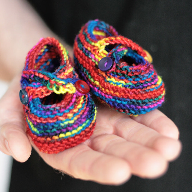 Saartje's Rainbow Bright Booties
