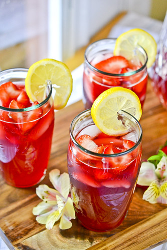 Strawberry Hibiscus-Tea Lemonade | Full Fork Ahead