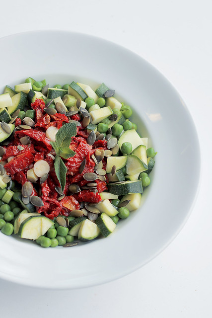 Sun Dried Tomatoes, Courgettes and Peas