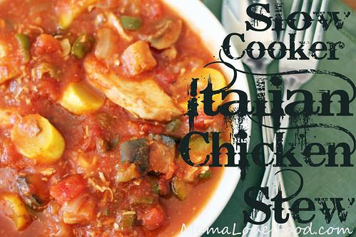 Slow Cooker Italian Chicken Stew
