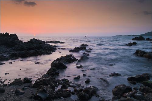 travel sunset usa seascape nature landscape hawaii pacific