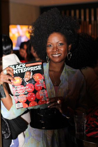 Abiola Abrams at the Black Enterprise Magazine Party