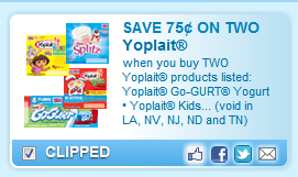 Yoplait Products Listed: Yoplait Go-gurt Yogurt  Yoplait Kids  Coupon