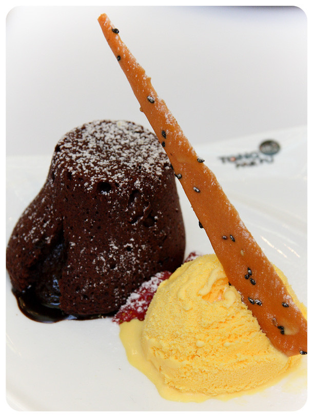 Chocolate Lava Cake with Vanilla Ice-Cream