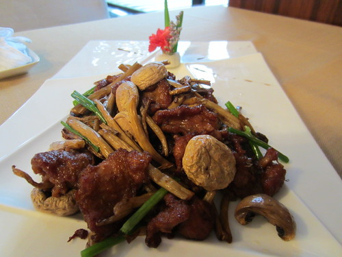 5 Jun 12 - Fried mutton with 2 kinds mushrooms.