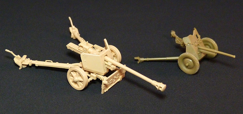 1/72 Finnish anti-tank gun models