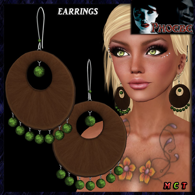 *P* Gipsy Earrings ~Green~