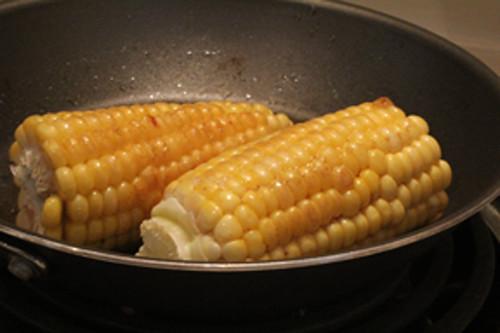 Corn sauteeing