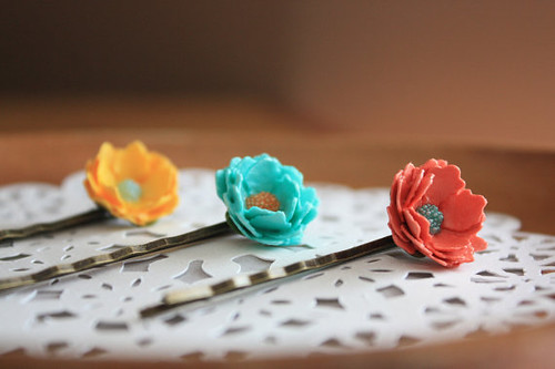 Paper Flower Hair  Accessories