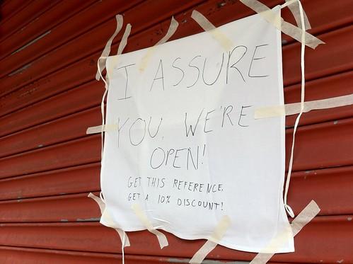Side Walk Cafe: We're Open!