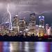 Lightning Over Sydney City