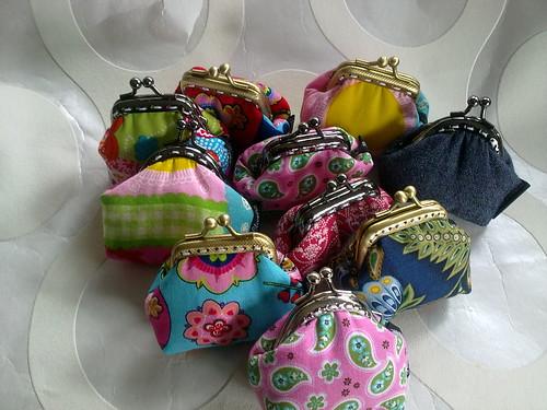 Minis porta moedas by ♥Linhas Arrojadas Atelier de costura♥Sonyaxana