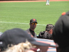 Ryan Vogelsong in the dugout