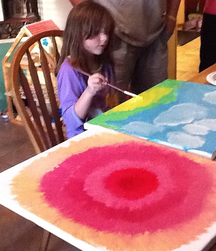 Painting with Katie's daughter