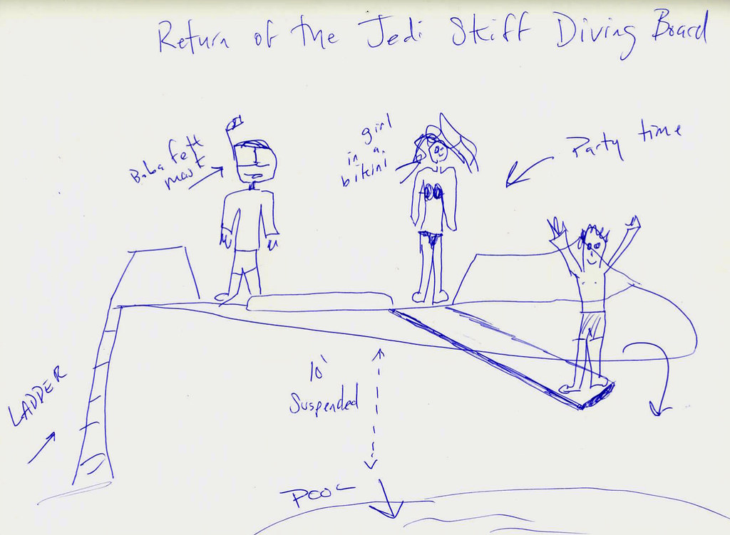 Original Sketch for the The Return of the Jedi Skiff Party Deck-Diving Board