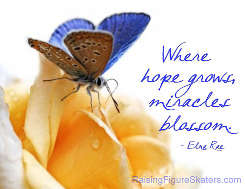 """Where Hope Grows, Miracles Blossom"" Word Art Freebie"