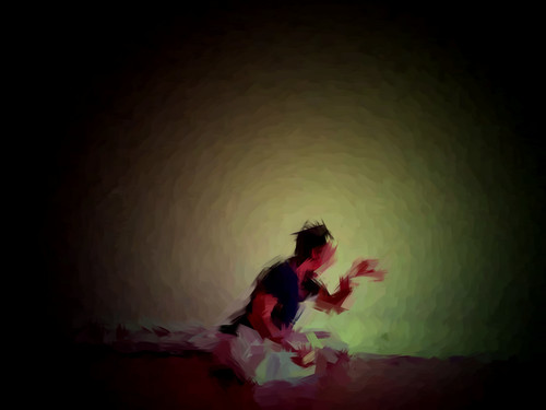 Delicacy of the Aged 2 (From my Butoh Vlog. Digital Work Over Photograph. 2011)