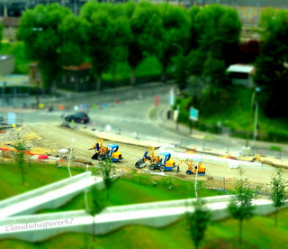 Tiny Construction Tractors - Tiltshift