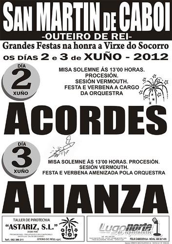 Outeiro de Rei 2012 - Festas do Socorro en San Martín de Caboi - cartel