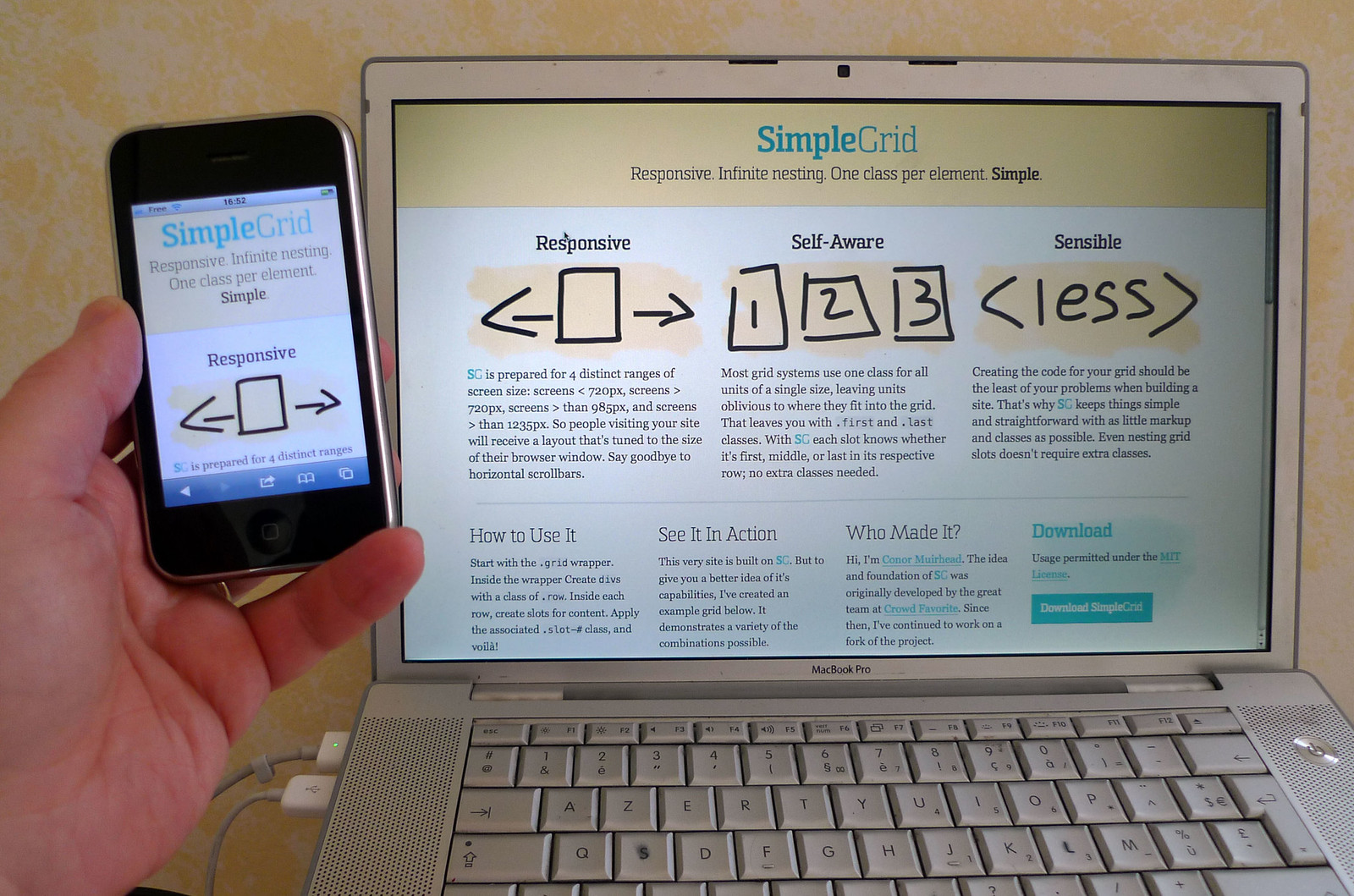 Photo:Responsive Web design Layout By:luc legay