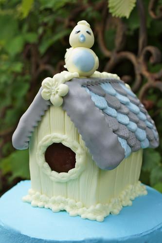 Hubby's Birdhouse Birthday Cake