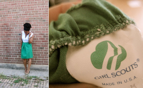 girl scout skirt
