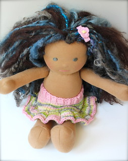 "Western Sky Knits ""Sakura"" Skirty for 12"" dolls (w/clippy)"