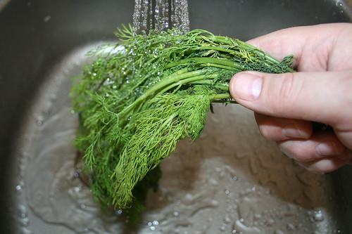 12 - Dill waschen / Wash dill
