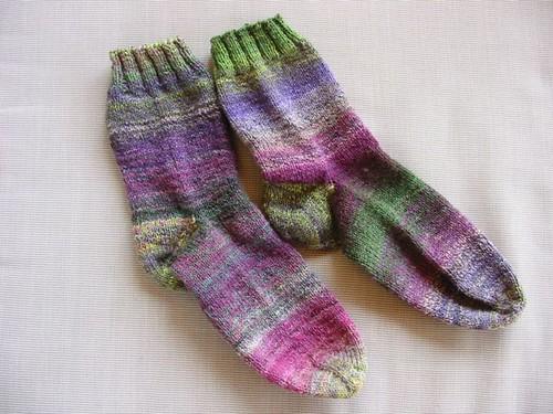 Handspun Frankenstien Socks