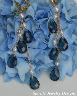 Vintage Austrian Crystal Earrings ~ Bridal Jewelry and Bridesmaids Jewelry Designs