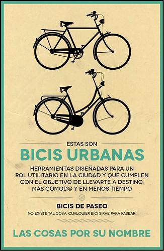 Bicis urbanas: Las cosas por su bombre