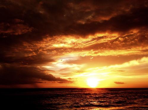 Sun, Sea and Clouds: iPad Sunset...