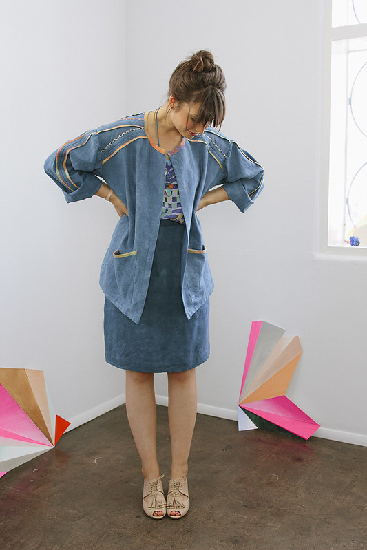 ERMIE Indigo Linen Jacket