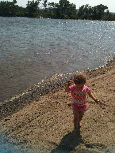 Swim beach at farm island recreation center