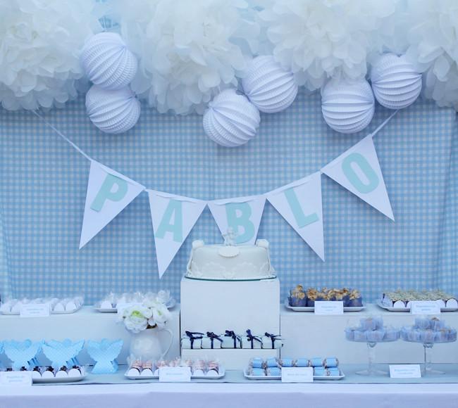 Un bautizo azul y blanco muy especial | Niceparty