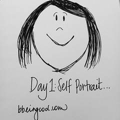 Day 1: Self Portrait #photoadayJuly #handdrawn #bdrawsthings