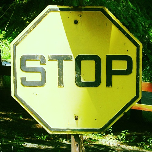 Stop, Yellow Sign