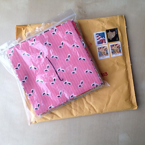 Denyse Schmidt swap goodies received from @thatmoxiegirl !!!  #denyseschmidt #swap #sewing #fabric