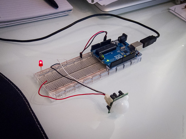 PIR Simple Breadboard