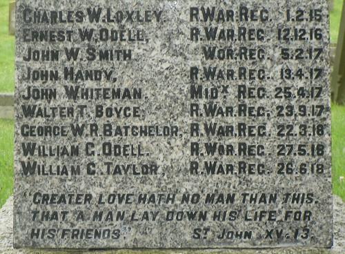 War Memorial in Temple Grafton, Warwickshire