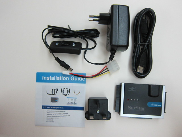 Vantec NexStar SATA/IDE to USB 3.0 Adapter - Package Contents